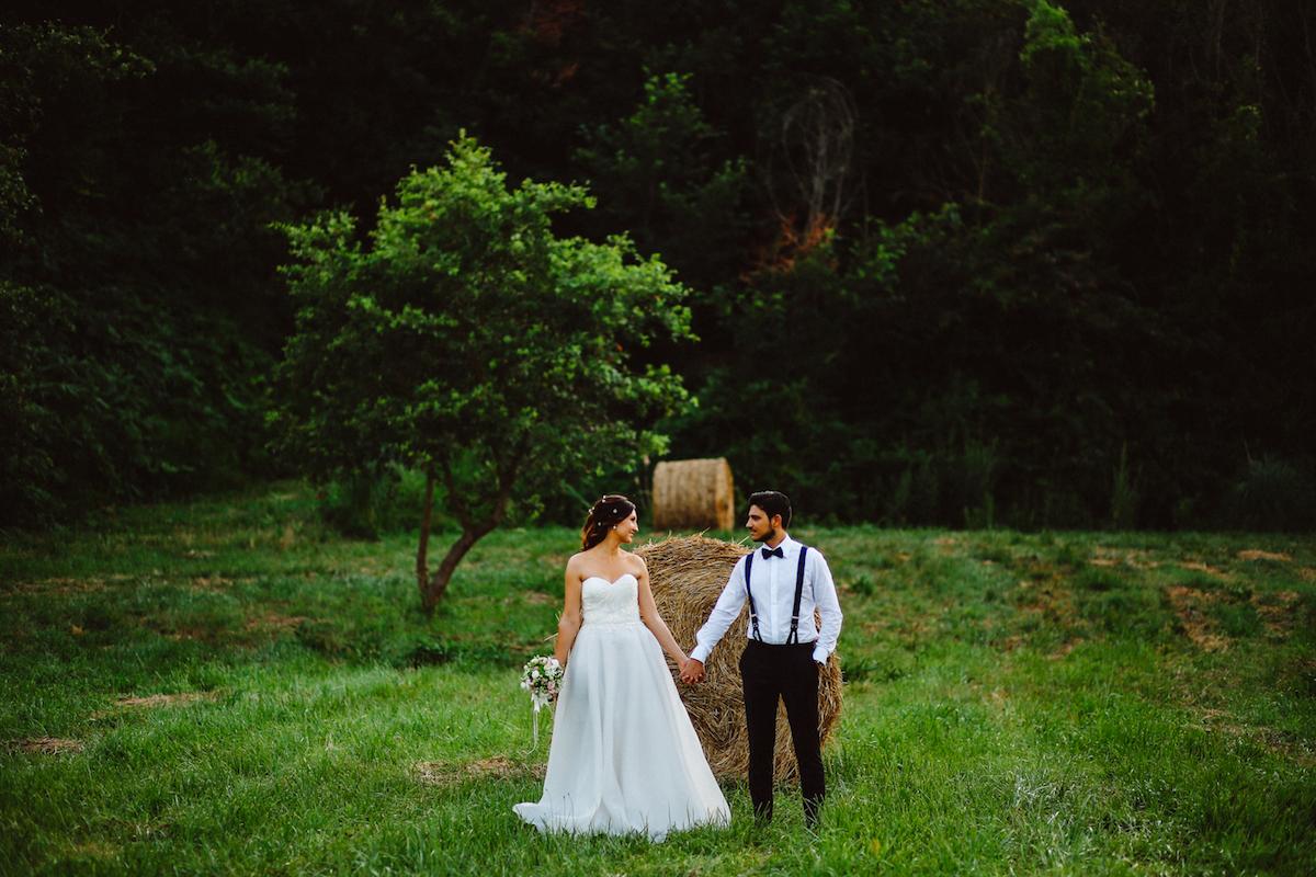 matrimonio country all'aperto
