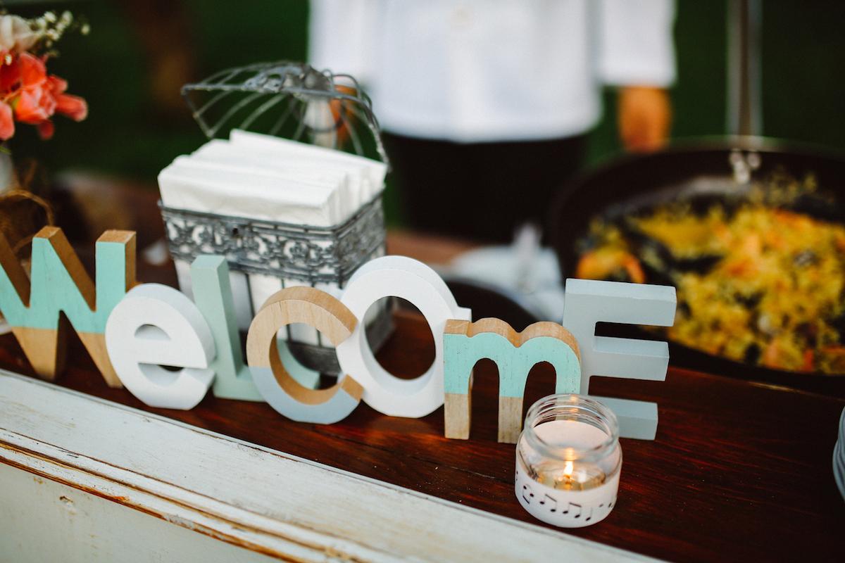 "cartello ""welcome"" matrimonio"