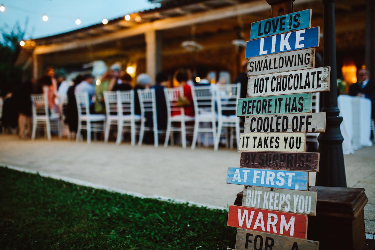 cartelli decorativi matrimonio