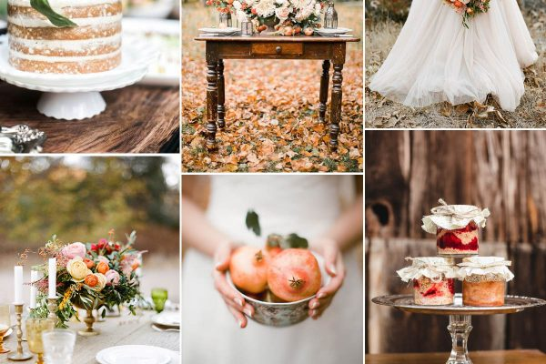 matrimonio di inizio autunno in arancione, pesca e marsala