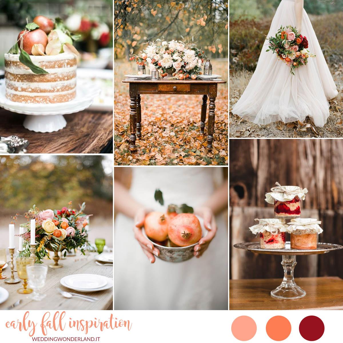 Matrimonio Tema Autunno : Inspiration board un matrimonio di inizio autunno