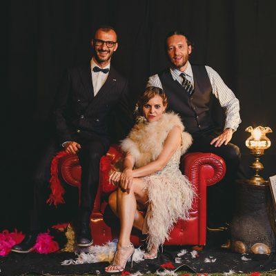 Un matrimonio classico trasformato in festa anni '20