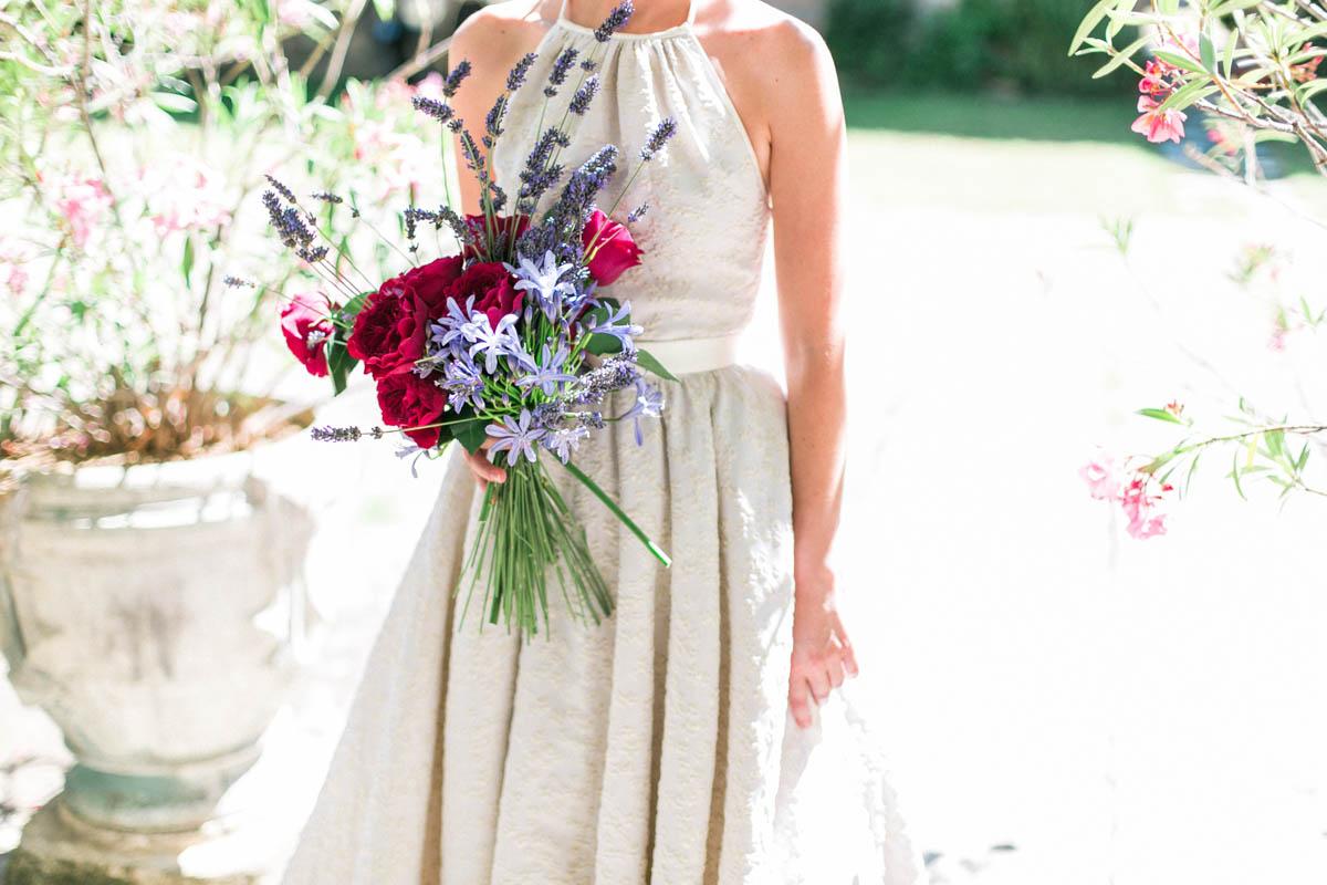 bouquet magenta e lavanda