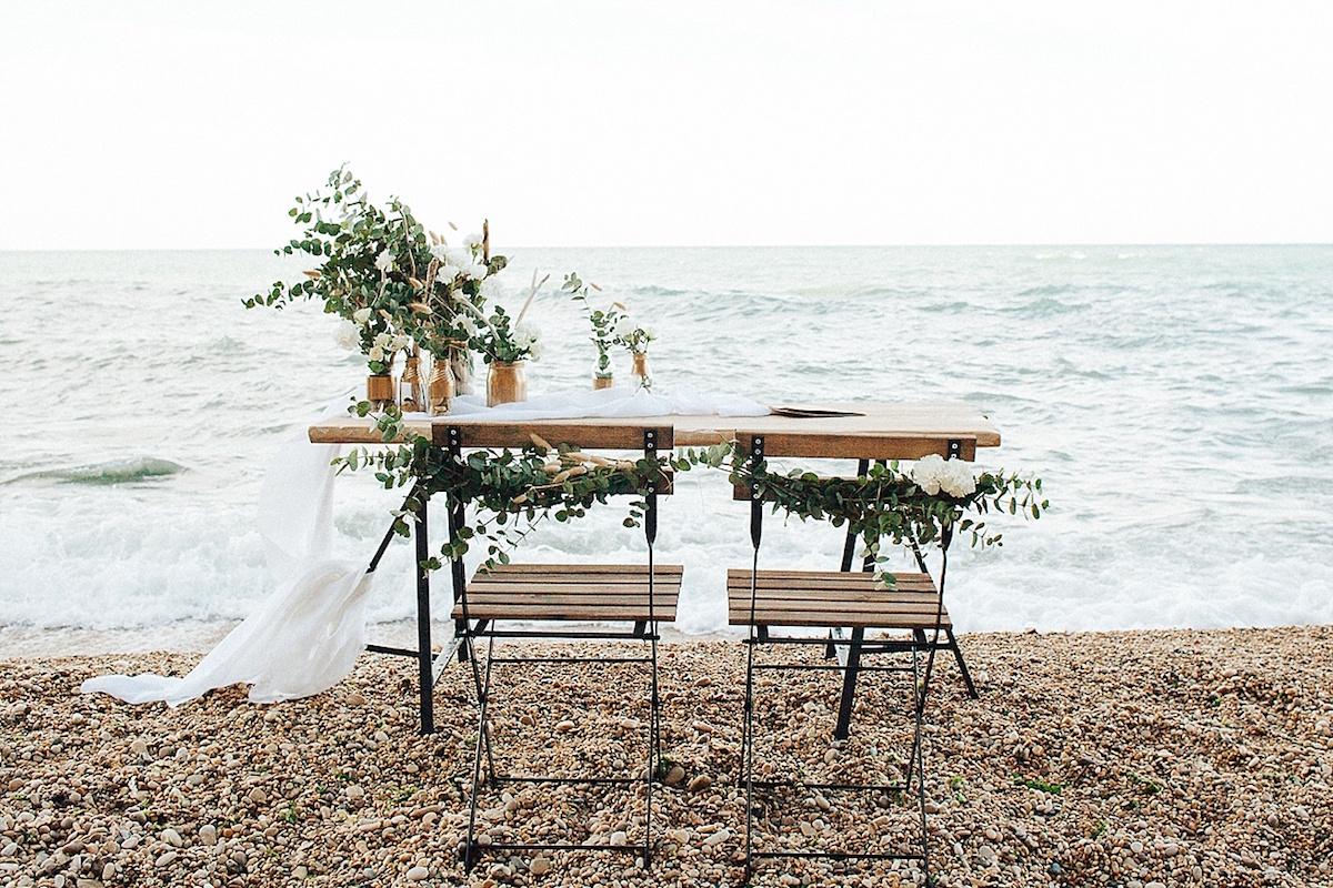 allestimento matrimonio sul mare