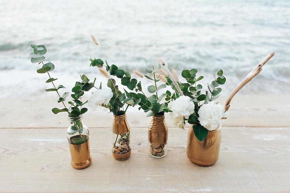 allestimento matrimonio organico sul mare