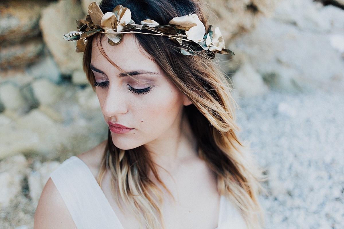 corona di fiori rustica