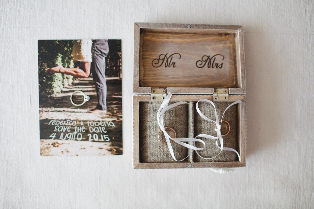 scatola in legno porta anelli