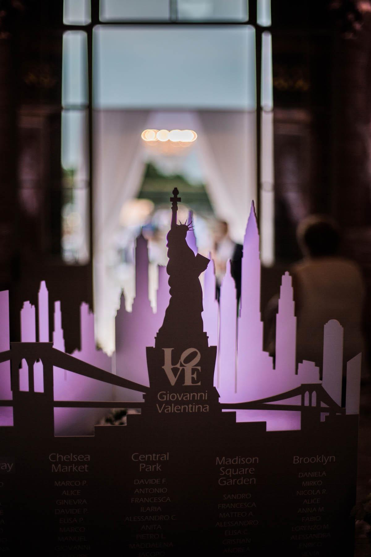 tableau de mariage ispirato a new york