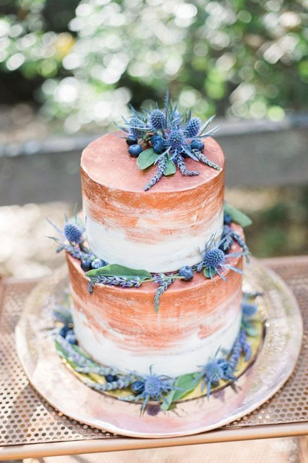 wedding cake rame e blu