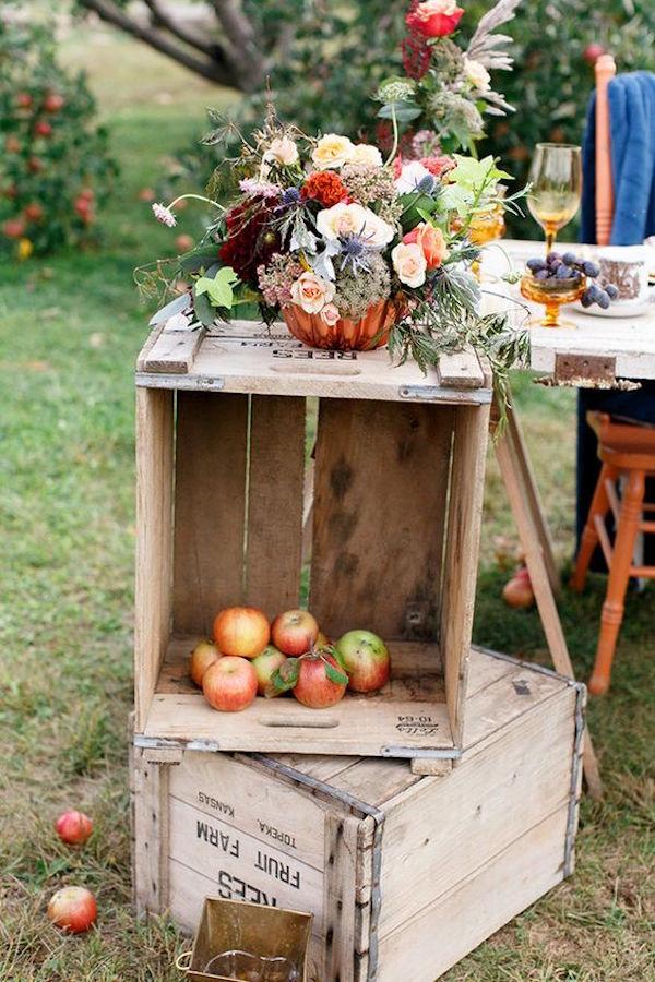 allestimento matrimonio in autunno