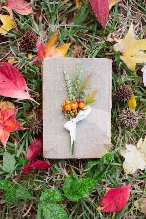 bottoniera matrimonio in autunno
