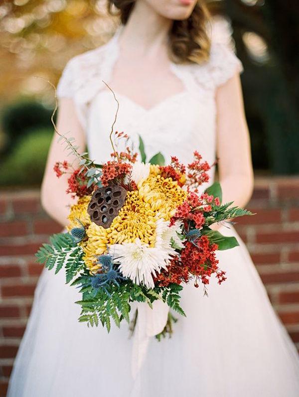bouquet matrimonio in autunno