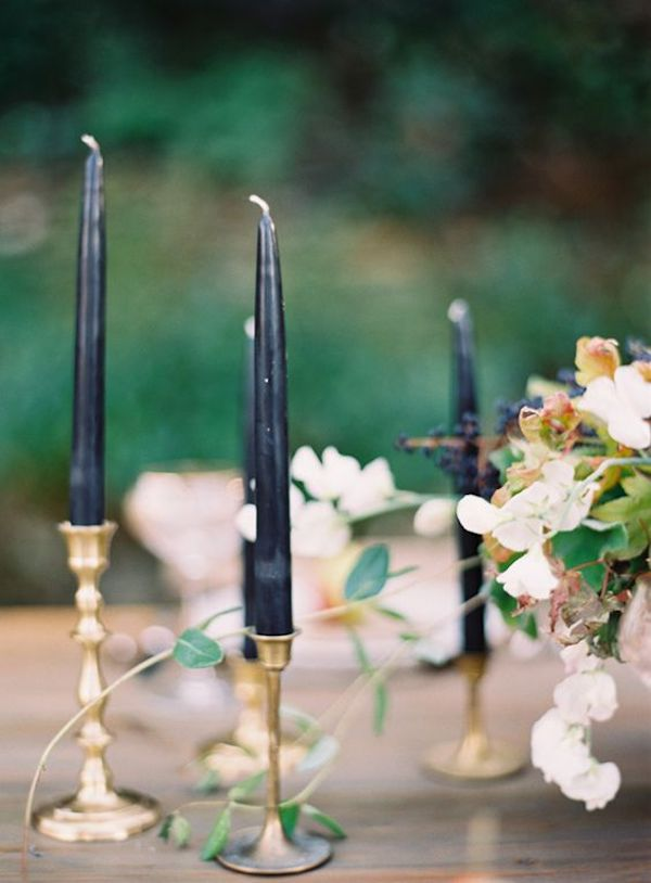 candele nere matrimonio ad halloween