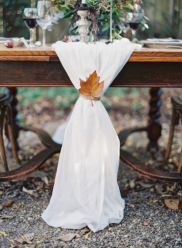 dettagli matrimonio in autunno