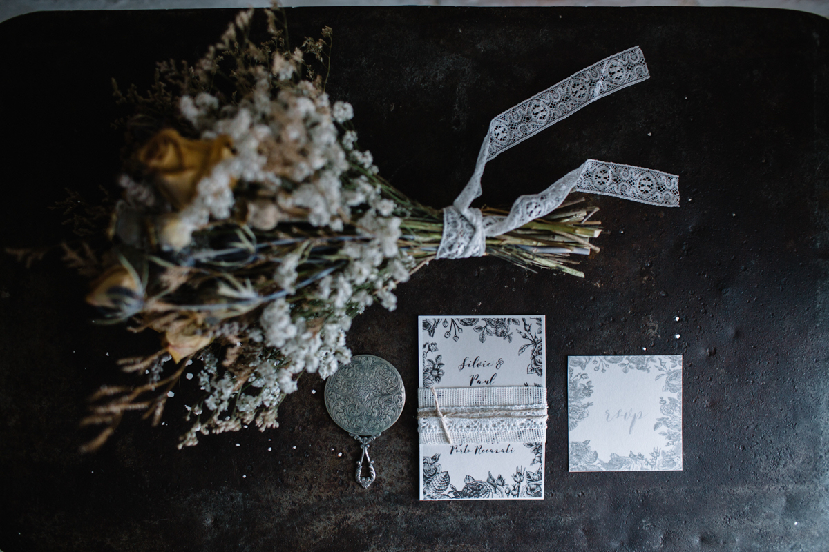 partecipazioni matrimonio vintage