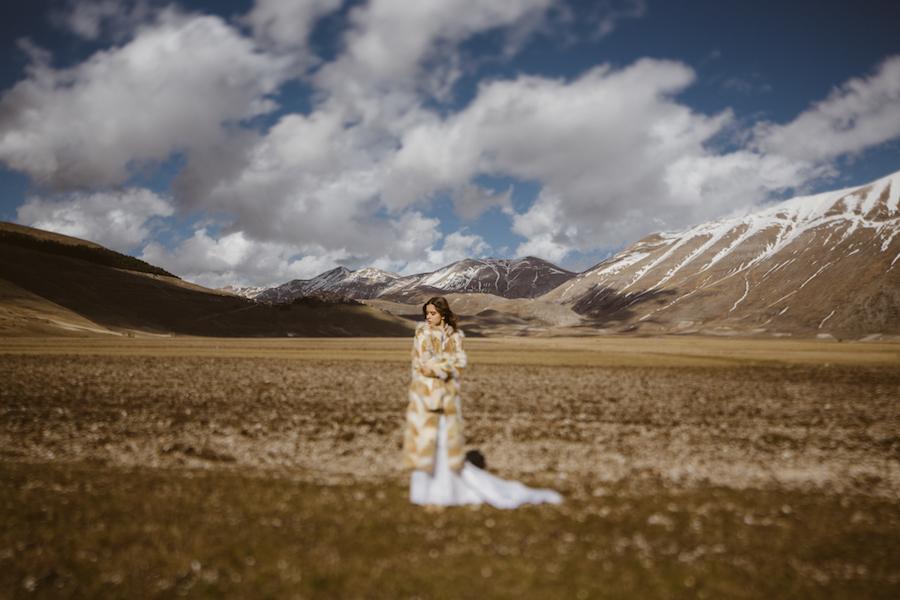 sposa in montagna