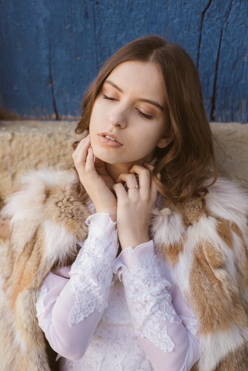sposa invernale con pelliccia