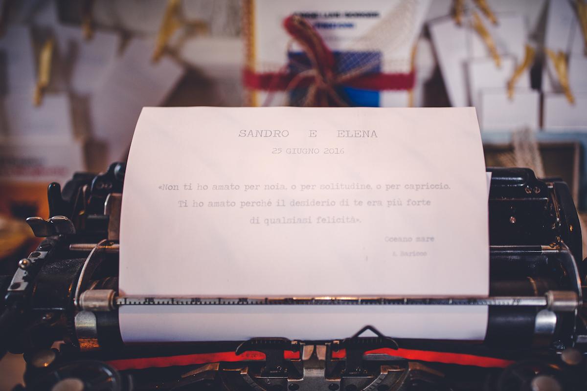 macchina da scrivere matrimonio