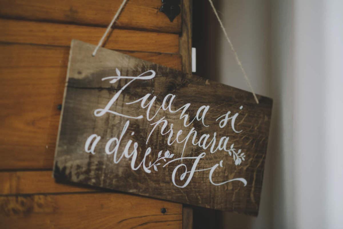 cartello preparazione sposa