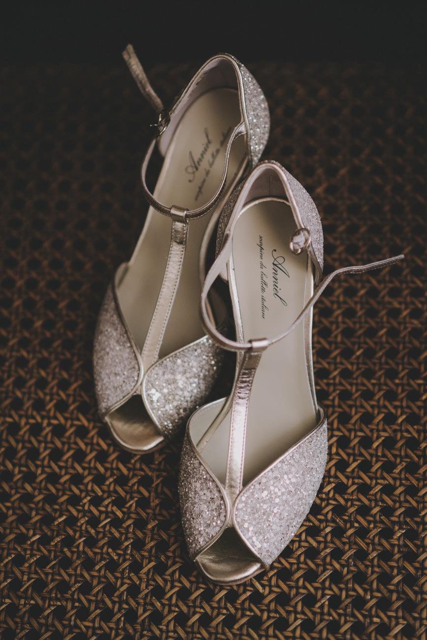 scarpe da sposa glitter anniel