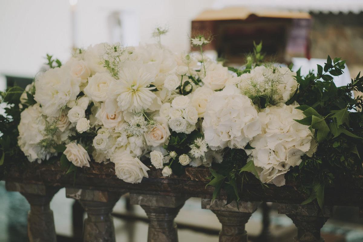 allestimento matrimonio botanico in chiesa