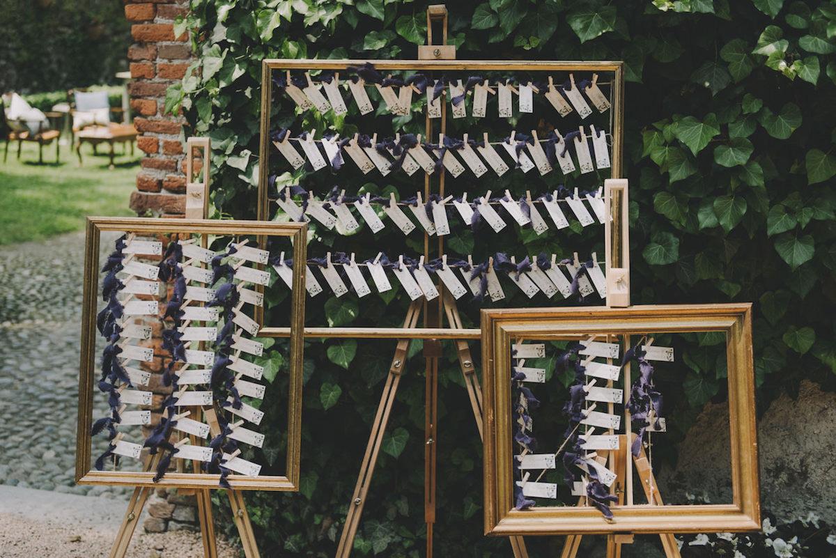tableau de mariage con cornici