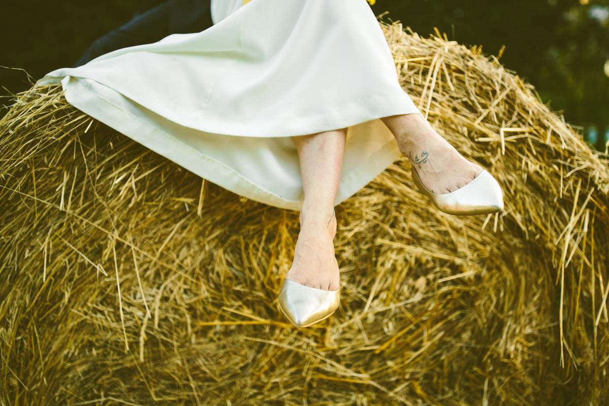 matrimonio country nel giardino di casa
