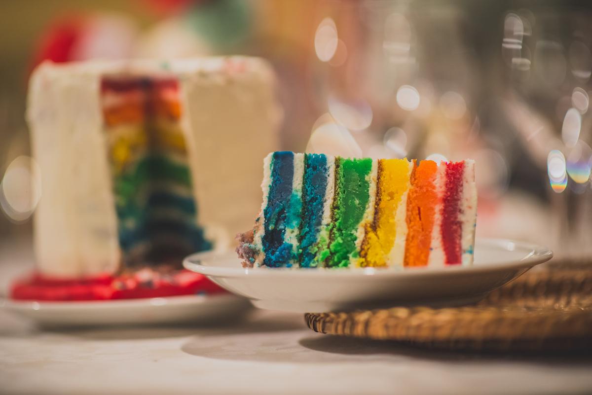 wedding cake arcobaleno