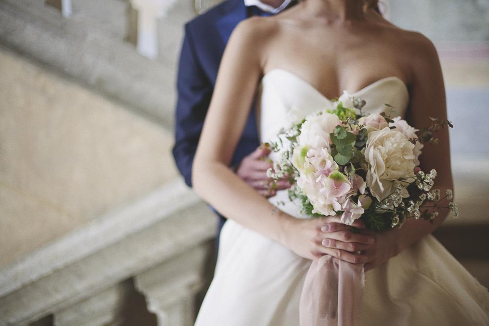 bouquet di peonie rosa