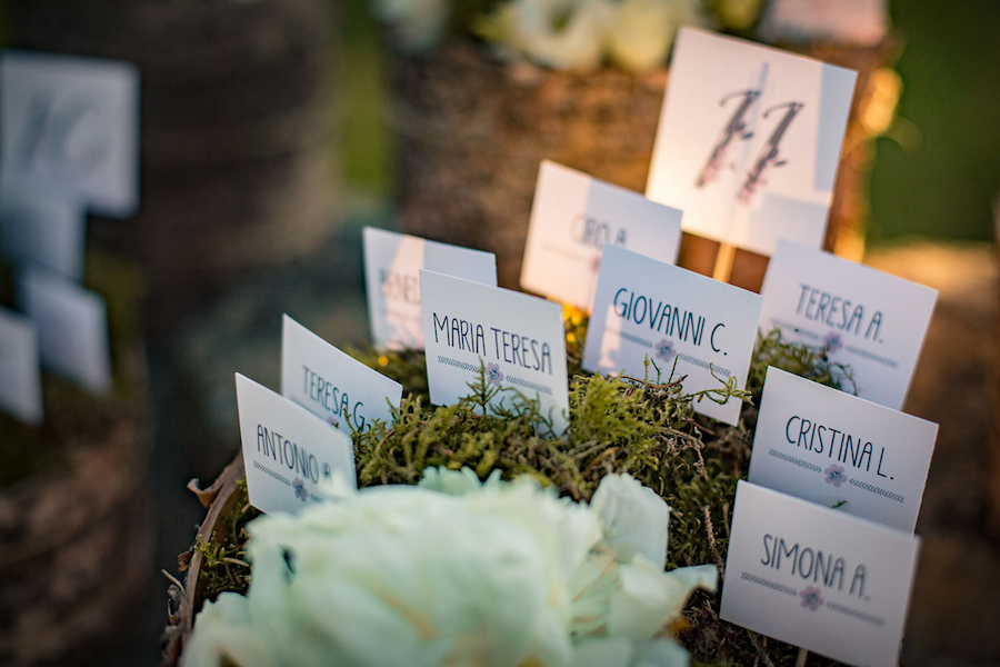 tableau de mariage country chic