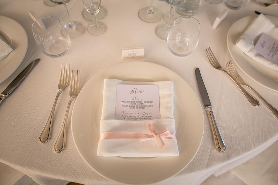menù matrimonio romantico