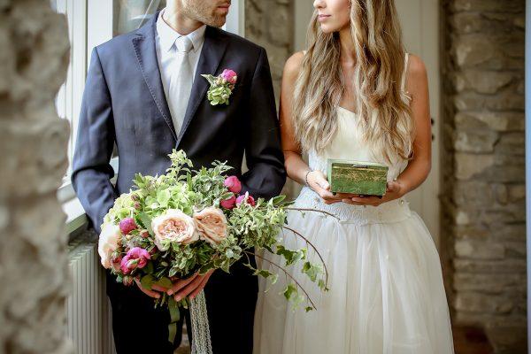 Un matrimonio romantico e retrò