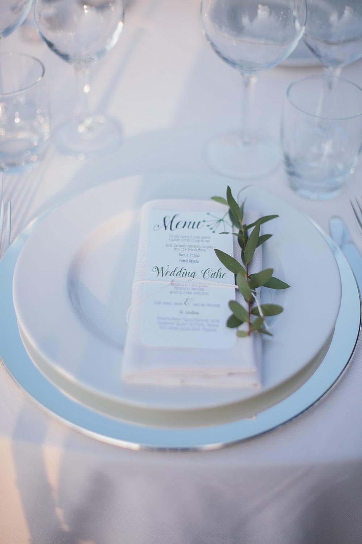 mise en place matrimonio botanico