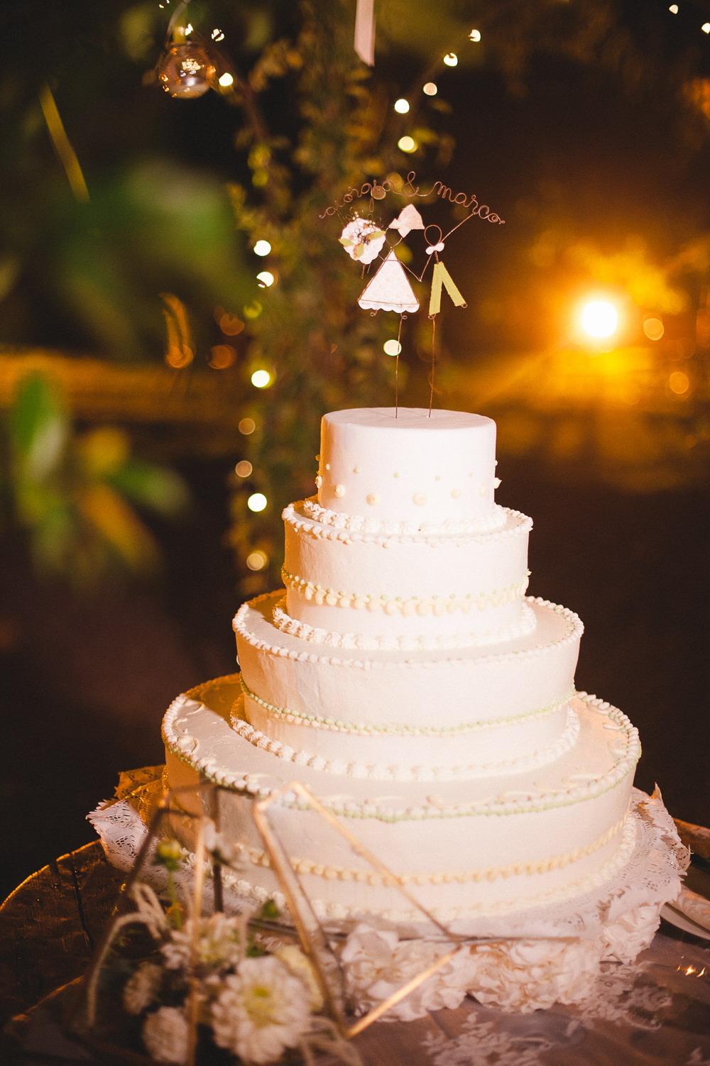 cake topper in fil di ferro
