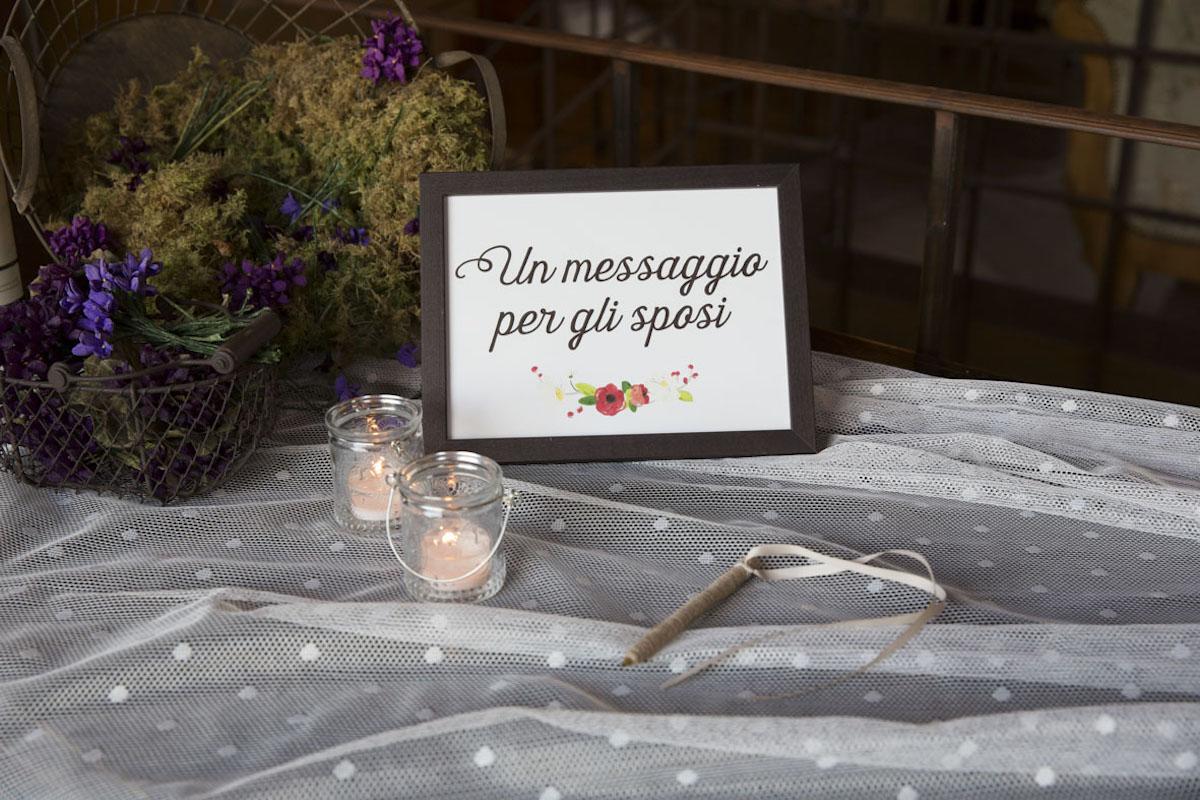 cartello guestbook floreale