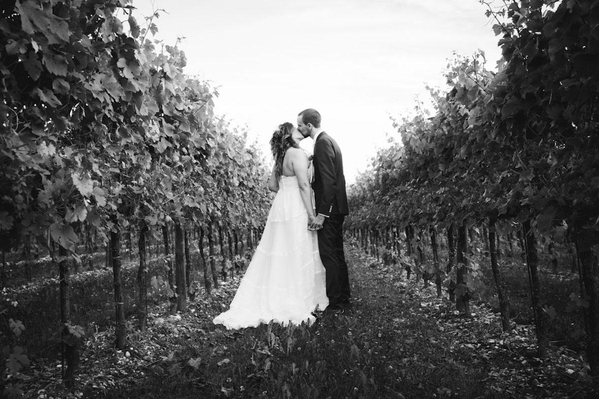 matrimonio semplice in vigna