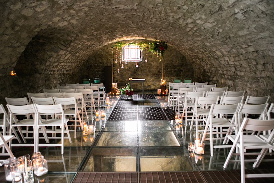 allestimento cerimonia in castello