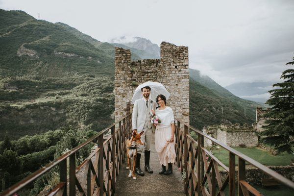 Un matrimonio vegano al Castello di Breno