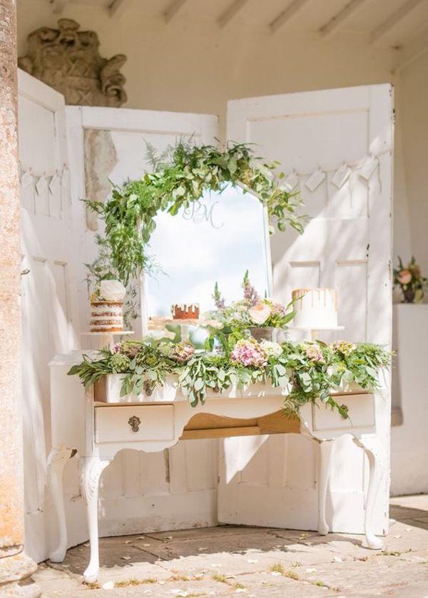 sweet table con specchio
