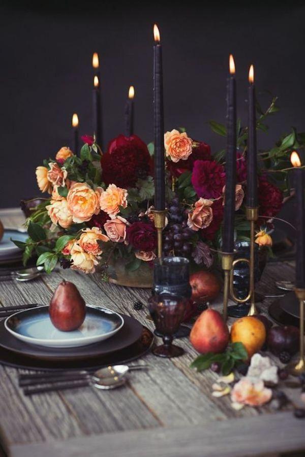 tavola matrimonio autunnale ad halloween