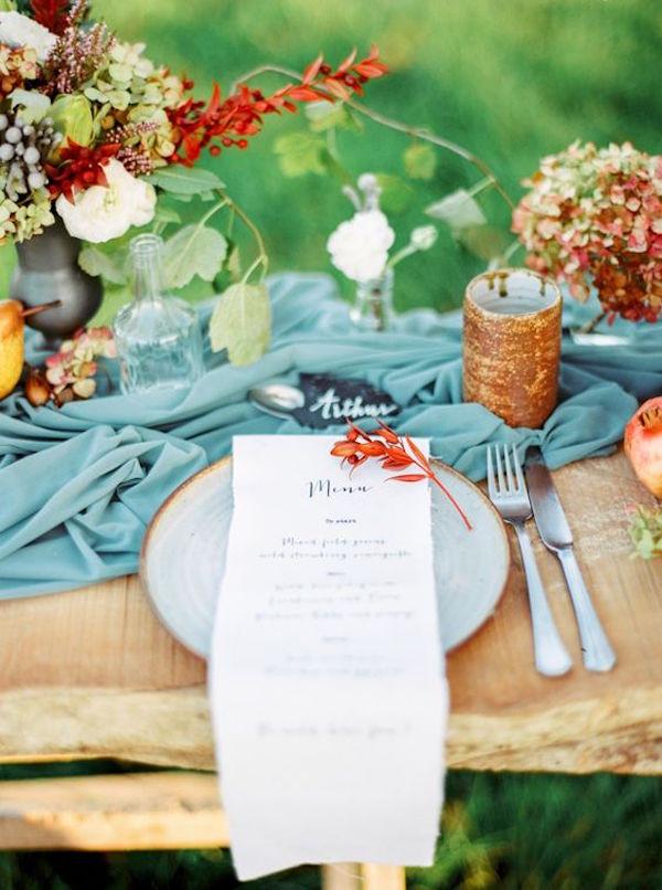tavola matrimonio autunnale