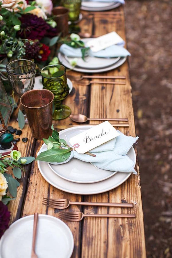 tavola rustica matrimonio autunnale