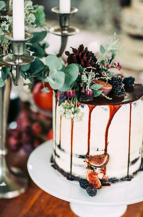 wedding cake matrimonio in autunno