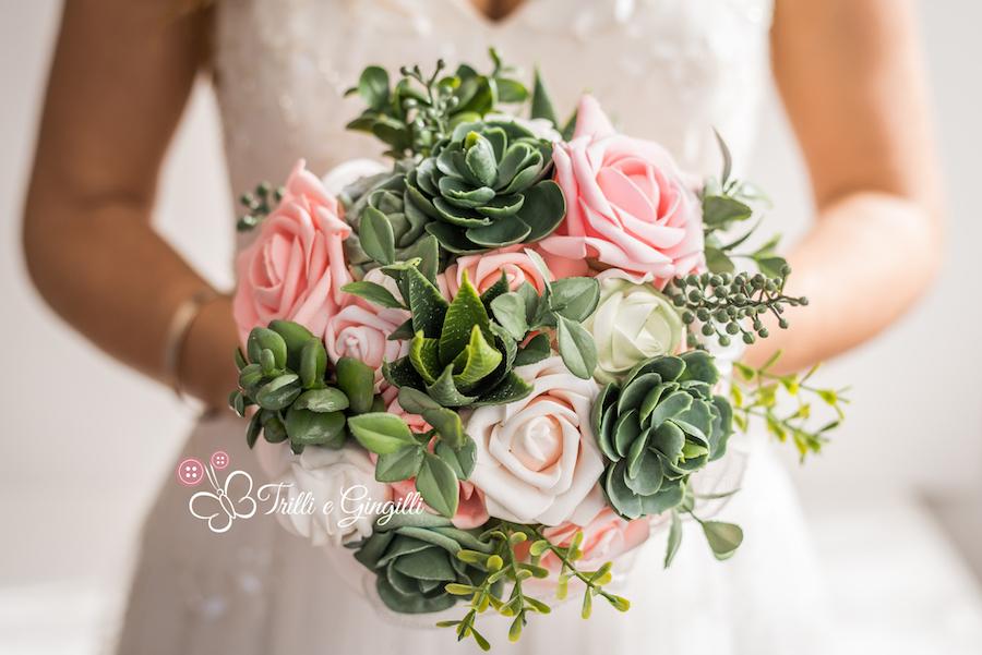 bouquet alternativo con piante succulente - trilli e gingilli