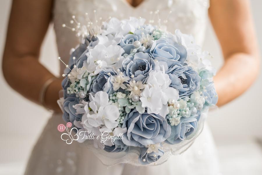 bouquet alternativo azzurro polvere - trilli e gingilli