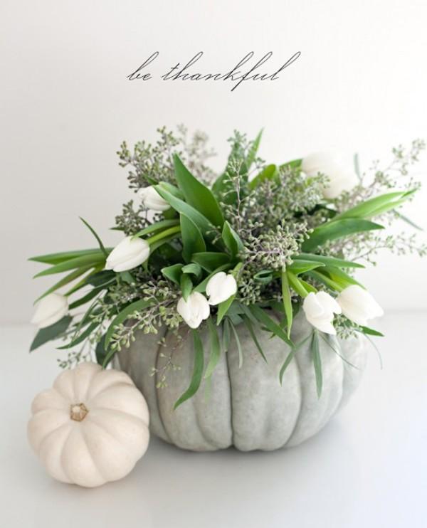 centrotavola fai da te con zucche per l'autunno