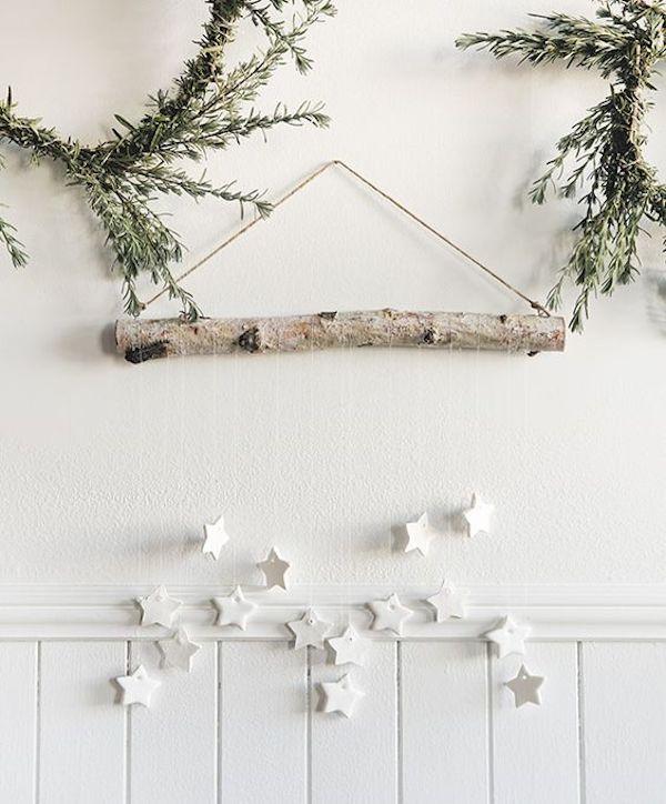 decorazioni di natale con stelle di argilla