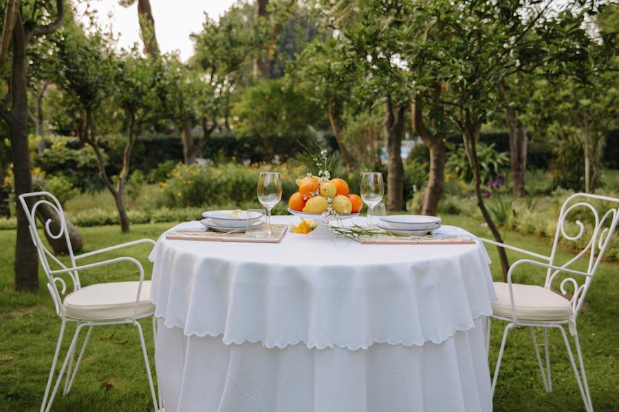 tavola matrimonio ispirato ai colori di sorrento