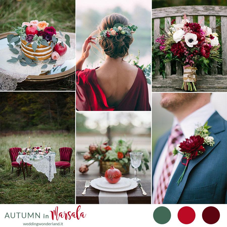 Matrimonio In Autunno : Inspiration board matrimonio in autunno color marsala