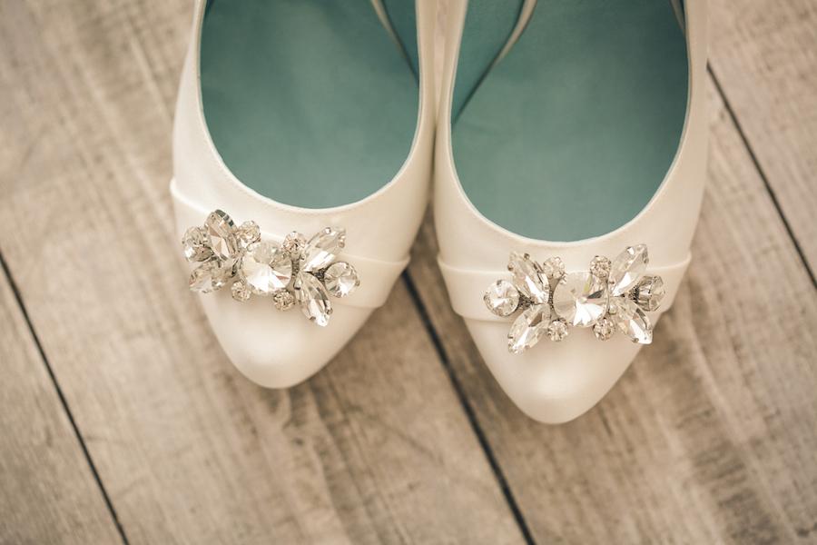 scarpe da sposa con swarovski